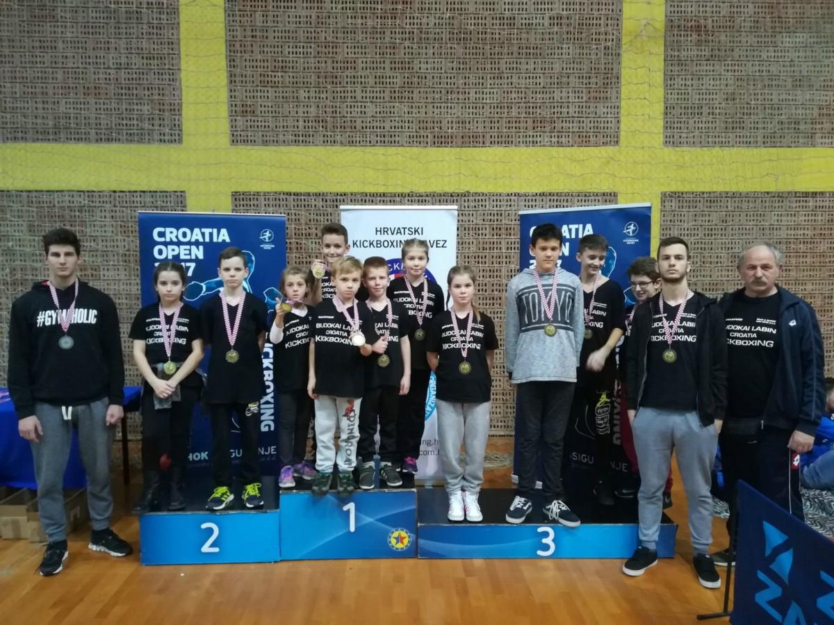 KBK Budokai Labin ukupno 1. u pointfightingu na Otvorenom prvenstvu Hrvatske u kickboxingu `Croatia open 2017. ` u Zagrebu
