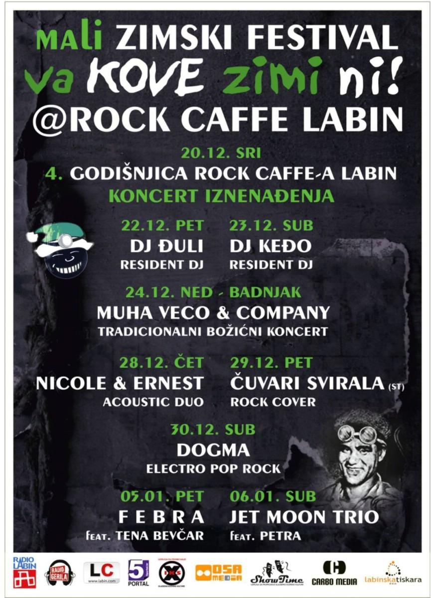 Mali zimski festival Va Kove Zimi Ni u labinskom Rock Caffe-u