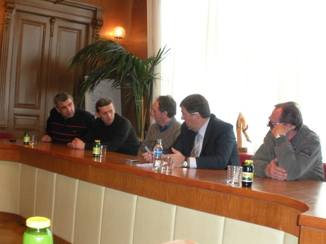 Konferencija za novinare u povodu sedme brdske auto utrke Rabac - Labin