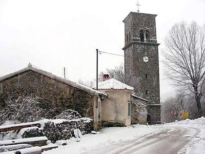Na Ćićariji jučer pao snijeg
