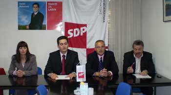 Klaudia Verbanac i Valdi Gobo SDP-ovi dogradonačelnici, Daniel Mohorović u subotu počinje prikupljati potpise