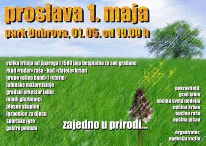 Proslava 1. svibnja na Dubrovi