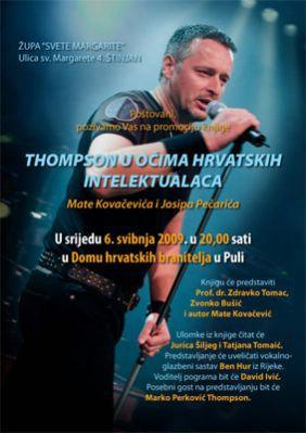 Don Vinko Puljić organizator promocije knjige ''Thompson u očima hrvatskih intelektualaca''