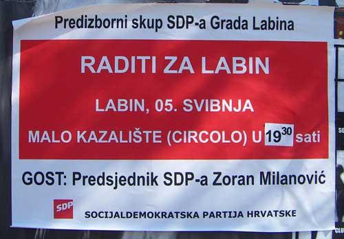 Lokalni izbori 2009: večeras predstavljanje IDS-a, a u Circolu gost Zoran Milanović