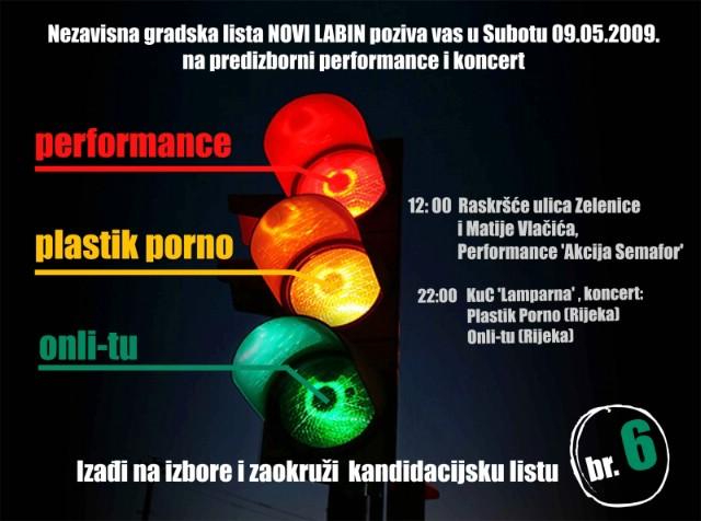 Nezavisna gradska lista NOVI LABIN poziva sve na performance i koncert!