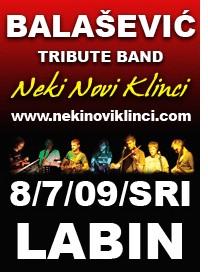 """Labin Art Republika: Balašević tribute band """"Neki novi klinci""""  kod špine"""