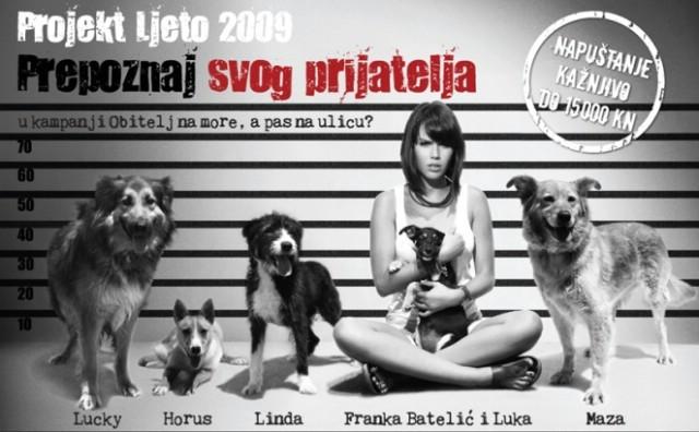 Franka Batelić zaštitno lice kampanje Prijatelja životinja: za napuštenog psa platiti ćete 15 tisuća kuna