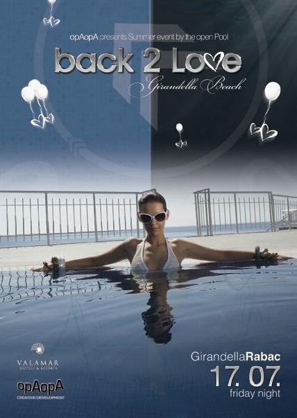 Večeras u 23 sata ''Back 2 Love'' Party @ Girandella Beach Rabac - obavijest o promijenjenim uvjetima nagradne igre za posljednu četvrtu ulaznicu