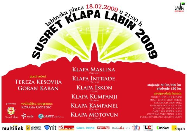 Večeras 3. Susret klapa Labin 2009 - predstavljanje klapa Motovun i Kampanel