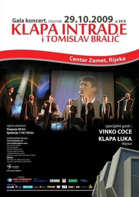 Gala koncert Klape Intrade i Tomislava Bralića u Rijeci