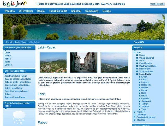 Istrien.info poznati portal  labinskih i rabačkih iznajmljivača u novom ruhu