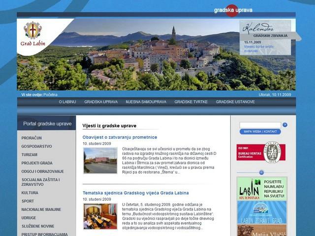 Prezentacija novih službenih stranica Grada Labina - www.labin.hr