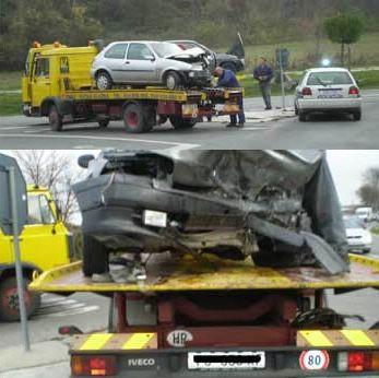 Teška prometna nesreća na raskrižju Labin - Raša, nesavjestan vozač usporio interventno vozilo