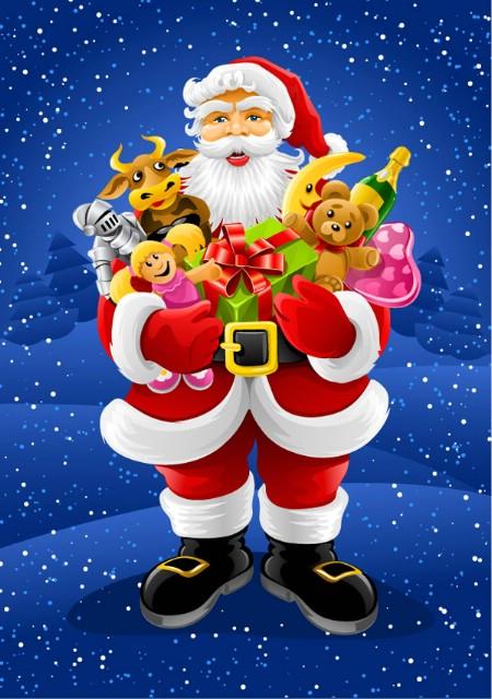 Podjela poklon paketa Djeda Božićnjaka (za one koji zbog snijega bili spriječeni)