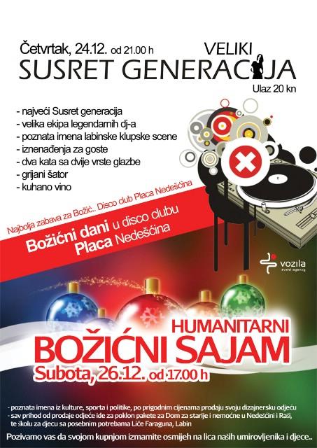 Veliki Božićni Susret generacija i humanitarni Božićni sajam u Nedešćini