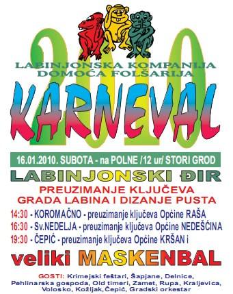Počinju karnevalske svečanosti - u subotu preuzimanje ključeva Grada i velika maškarana fešta u Čepiću
