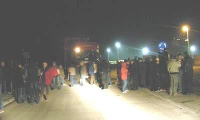 Ponovno prosvjed protiv Rockwoola - kamioni blokirani, pozvana policija