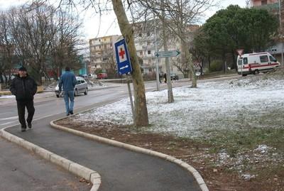 Snijeg uz buru na Labinštini - pahulje kratkog daha